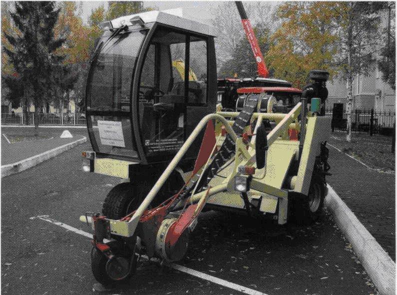 Самоходный оборачиватель лент льна ОПС-01